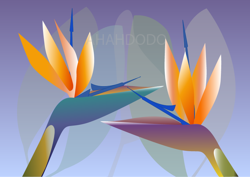 digital art work of strelitzia